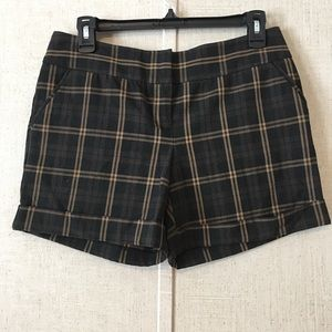 The Limited Plaid Cassidy Shorts